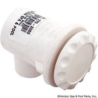 "Waterway 1/2"" Scalloped Air Control 90o Ell Body White"