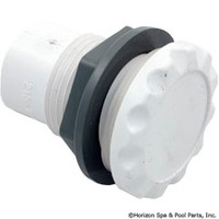 "Waterway 1/2"" Scalloped Air Control Straight Nut Body White"