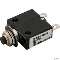 Spa Circuit Breaker, Panel Mount, 20a, 120v