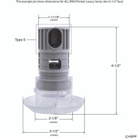 Spa Barrel Jet, Directional, High Flow, Scalloped Face, Black(9)