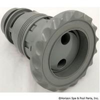 "3 3/8"" Face Waterway Poly Internal Standard Pulsator Deluxe, White-Grey-Black"