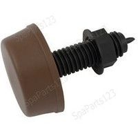 Spa Mushroom Button, Threaded, Brown