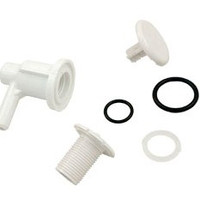 "Lo Pro Air Injector 3/8"" Barb Elbow Style, White"