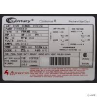 Jacuzzi® Cygnet Spa Pump Motor C-Face Thd 1.5HP Sgl Spd 115/230V B129 (#21)(6)