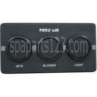 Spa 3-Button Panel Kit Black (Air) 1