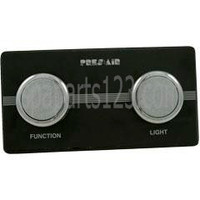 Spa 2-Button Panel Kit Black/Chrome (Air) 1