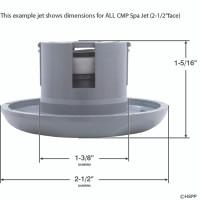 """2 1/2"""" Spa Jet Insert Pulsator,5 Scallop [Gray or White](2)"""