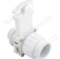 """1-1/2"""" Mpt x S(UN) Single Union Spa Valve, PVC-White, 6124"""