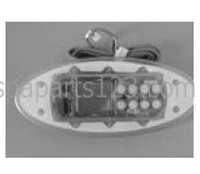 11009 Dynasty Spas Topside Control, K-51. Curved, MSPA Pack, No Overlay, w/Brackets, 3-00-7118/0201-0080068 BUTTON, BDLTSC4GE1 GECKO TOPSIDE, TSC-4/K-4, 2 PUMP