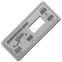 01560-129, D1 Spas Topside Inlay '92/'93 Gray Ultra