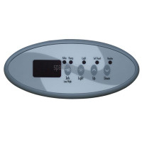 01560-390, D1 Spas '98 Gecko Topside Upper Control Panel with Inlay **Replaces 01560-278**
