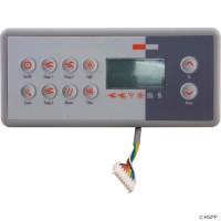 10 Button, BDLTSC810K Gecko Topside, TSC-8/K-8, 3 Pump, LCD