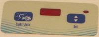 10053 Dynasty Spas Topside Overlay, 2000 Pack, W Air, Trevi Logo