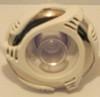 "3 3/8"" Dynasty Spa Jet, Poly Storm, Threaded, Directional, White/Mtl, Glo, Trix, 2012, 14484"