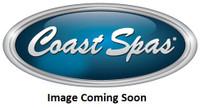 "3-3/8"" Coast Spas Jet, Poly Storm, Roto, Stainless W/ Burgundy, CC2128001SE-Bx"
