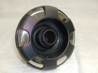 "5"" Coast Spas Jet, Power Storm, 6 Spoke, Directional, Black W/ Stainless, 212-7571Sx"