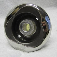 """5"""" Coast Spas Jet, Power Storm, Threaded, Luxury Trillium, LED, Directional, Stainless W/ Dk Gray, CC2297578L-GMBSx"""