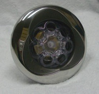 "5"" Coast Spas Jet, Power Storm, Threaded, Luxury Trillium, LED, Massage, Stainless W/ Dk Gray, CC2297598L-GMBSx"