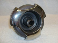 """5"""" Coast Spas Jet, Power Storm, Threaded,Tri Lever, Roto, Stainless W/ Dk Gray, CC2297849-GMBSx"""