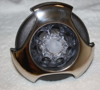 """5"""" Coast Spas Jet, Power Storm, Threaded, LED, Tri Lever, Stainless W/ Dk Gray, CC2297859FGMBSx"""