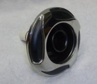 "5"" Coast Spas Jet, Whirlpool, 4 Swirl, Stainless W/ Black, 212-2901Sx"