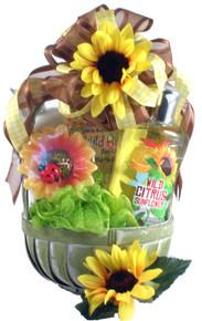 Citrus Sunflower Spa Basket