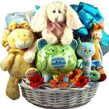 Cuddle Zoo, New Baby Gift Basket