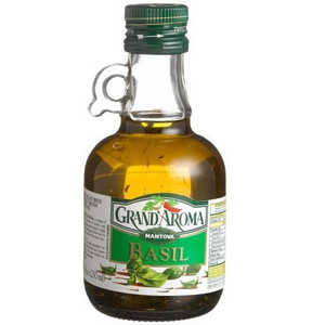 Basil Flavored Extra Virgin Olive Oil 8.5 oz (240 gr) - Grand'aroma
