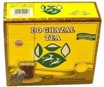 Black Tea with Cardamom 100 Tea Bags​ - Do Ghazal