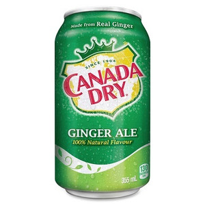 Canada Dry (Ginger Ale) Can 355ml 12 Pack