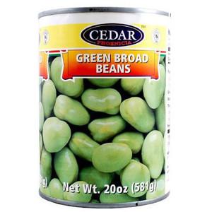 Green Broad Beans 540ml - Cedar