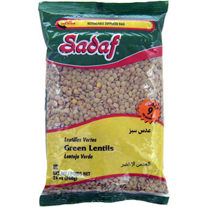 Green Lentils (24 oz.) - Sadaf