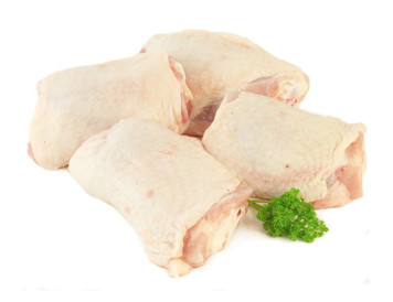 Halal bone-in skin-on Chicken Thighs - Basha - 1 kg