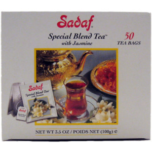 Special Blend Tea with Jasmine 50 Tea Bags Family Pack Foil Wrapping - Sadaf