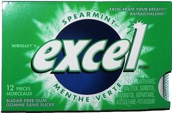 Sugar-Free Gum, Spearmint, 12 Count - Excel