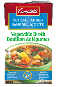 Vegetable Broth No Salt Added (900 ml) - Campbell's