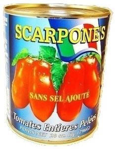 Whole Peeled Tomatoes (796 ml) - Scarpone's