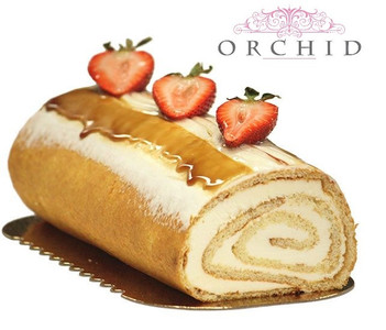 Cappuccino Yule Log - Orchid Pastry