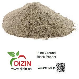 Fine Ground Black Pepper 100 gr - DIZIN