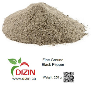 Fine Ground Black Pepper 200 gr - DIZIN