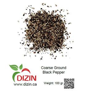 Coarse Ground Black Pepper 100 gr - DIZIN