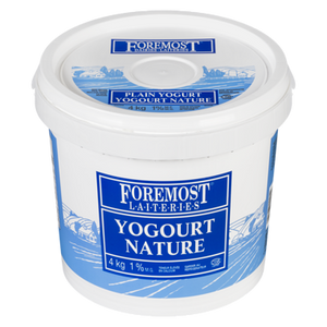 Yogurt, Plain 1% (4 kg) - FOREMOST