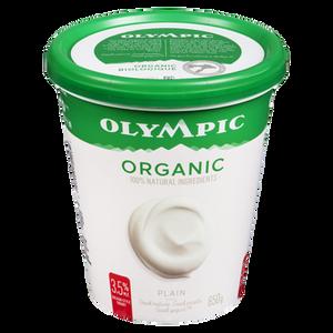 Organic Yogurt, Plain 3.5% (650 g) - OLYMPIC