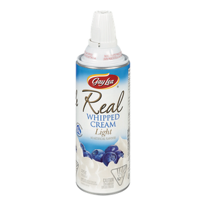 Real Whipped Cream, Light (225 g) - Gay Lea