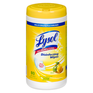 Disinfecting Wipes, Citrus (80 ea) - LYSOL