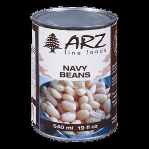 White Navy Beans (540 mL) - Arz