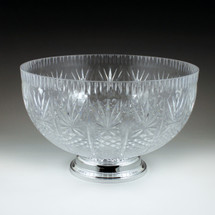 12 qt. Crystal Cut Punch Bowl with Pedestal