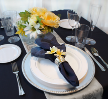 Elegant Silver Trim Wedding - 40 Guests
