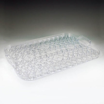 Crystal Cut Rectangular Tray w/ Handles