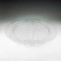 "Crystal Cut 16"" Round Tray"